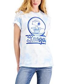 Juniors' Snoopy Beach Day Graphic-Print T-Shirt