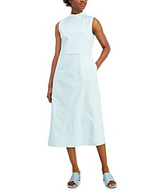 Mock-Neck Fit & Flare Sleeveless Dress, Created for Macy's