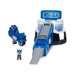 Paw Patrol Moto Pups Moto Hq Playset with Sounds and Exclusive Chase Figure and Motorcycle Vehicle