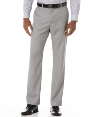 Big and Tall Linen Blend Textured Pants