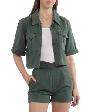 Women's Cotton Lyocell Cropped Shirt