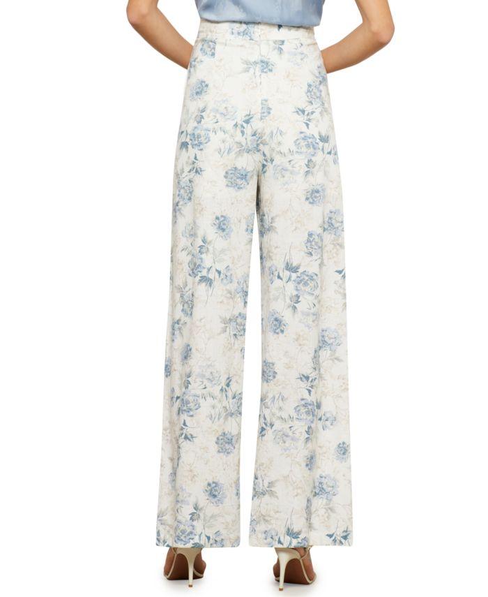 BCBGMAXAZRIA Floral-Print Wide-Leg Pants & Reviews - Pants & Capris - Women - Macy's