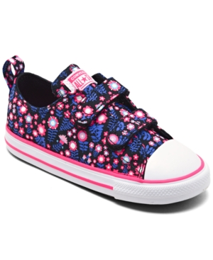 Converse TODDLER GIRLS DITSY FLORAL EASY-ON CHUCK TAYLOR ALL STAR CASUAL SNEAKERS