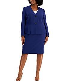 Plus Size Crepe Skirt Suit