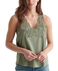 Sleeveless Cutwork Tank Top