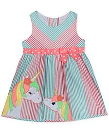 Baby Girls Unicorn Seersucker Dress