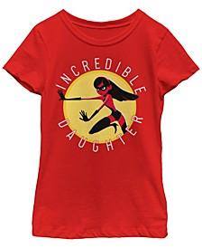 Big Girls Incredibles 2 Incredible Daughter Circle Short Sleeve T-shirt