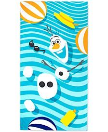 "Frozen Olaf Crazy For Summer Cotton 34"" x 64"" Beach Towel"