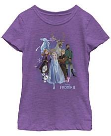 Big Girls Frozen 2 Group Cloud Short Sleeve T-shirt