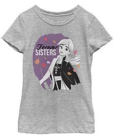 Big Girls Frozen 2 Sister Ana Short Sleeve T-shirt