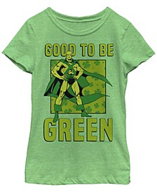 Big Girls Justice League Green Martian Short Sleeve T-shirt
