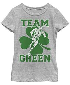Big Girls Justice League Aquaman Team Short Sleeve T-shirt