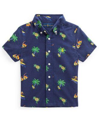 폴로 랄프로렌 남아용 셔츠 Polo Ralph Lauren Toddler Boys Tropical Print Oxford Shirt,Tropical Surfer