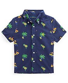 Toddler Boys Tropical Print Oxford Shirt
