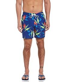 Floral Print Men's Swim Short