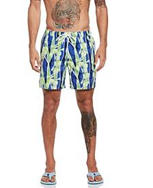 Geometric Floral Print Men's Swim Short