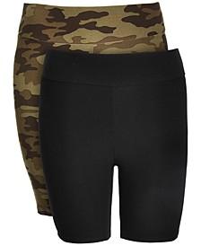 Trendy Plus Size 2-Pk. Yummy Bike Shorts