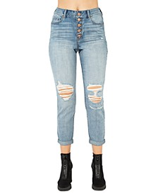 Juniors' Real Curve Mom Jeans