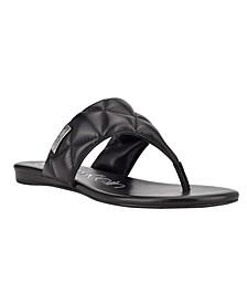 Women's Sabraya Slip On Thong Flat Sandals