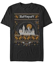Men's Hufflepuff Sweater Short Sleeve Crew T-shirt
