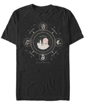 Fifth Sun Men's Celestial Houses Short Sleeve Crew T-shirt In Black