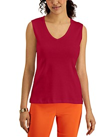 V-Neck Cotton Tank Top, Created for Macy's