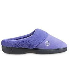 Women's Micro Terry Sport Hoodback Slippers