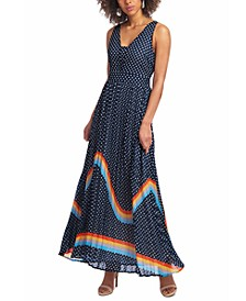 Printed Chiffon Maxi Dress