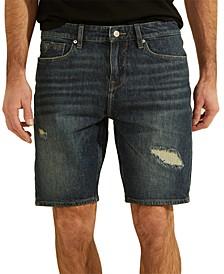 Men's Slim Destroyed Denim Shorts