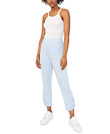 Freya Ruched Straight-Leg Pants, Created for Macy's