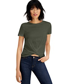 Cotton Twist-Front T-Shirt, Created for Macy's