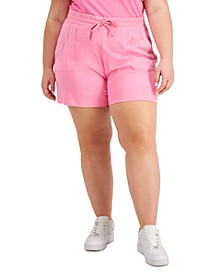 Trendy Plus Size Crystal-Studded Shorts
