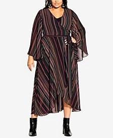 Plus Size Illusion Maxi Dress