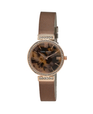 Women's Crystal T-Bar Brown Alloy Bracelet Watch 32mm