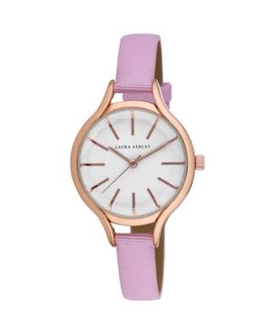 Women's Pink Grosgrain Strap Watch 32mm