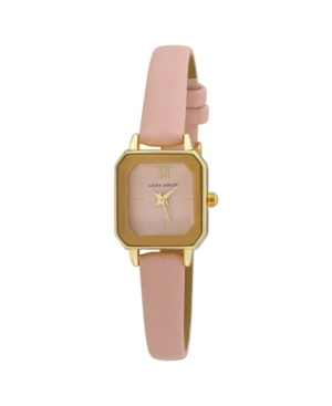 Women's Faceted Tank Pink Polyurethane Strap Watch 22mm