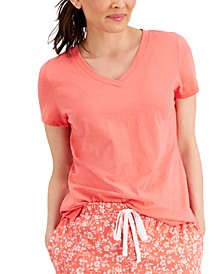 V-Neck Pajama T-Shirt, Created for Macy's