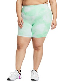 Plus Size One Icon Clash Printed Shorts