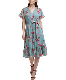 Floral-Print Midi Dress