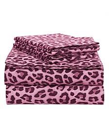 Leopard Cotton 4-Piece Set, Queen