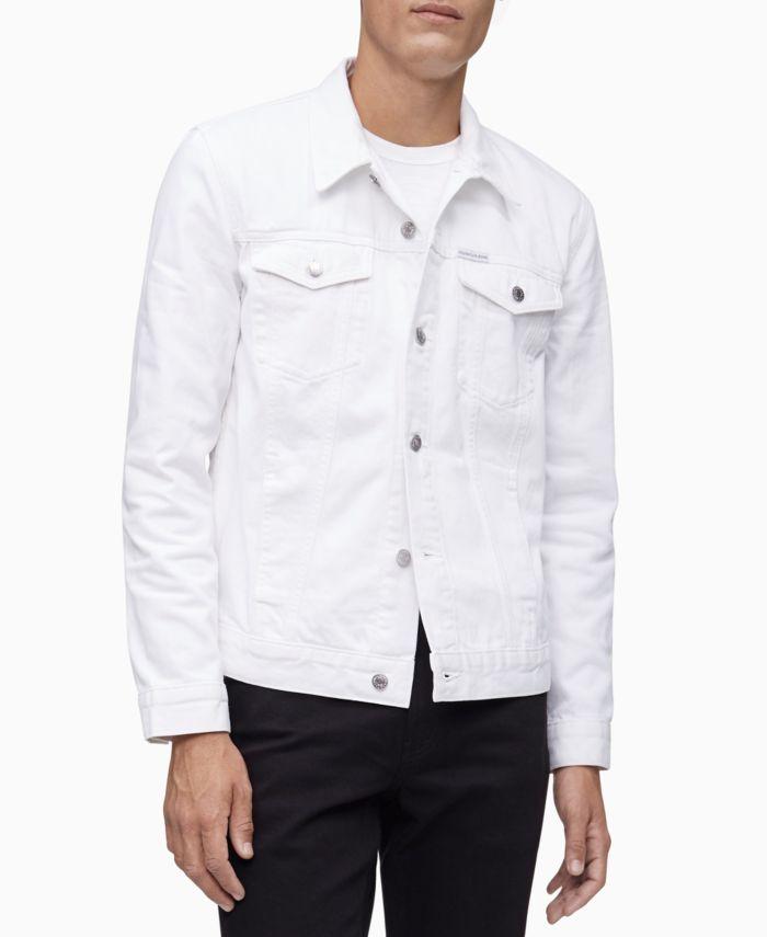 Calvin Klein Men's Essential Trucker Denim Jacket & Reviews - Coats & Jackets - Men - Macy's