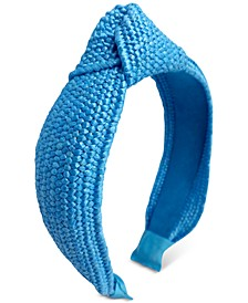 INC Colored Raffia Knotted Headband, Created for Macy's