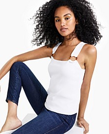 Square-Neck O-Ring Sweater Tank Top, Created for Macy's