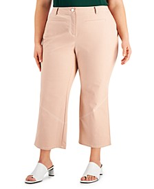 Plus Size Straight-Leg Ankle Pants, Created for Macy's