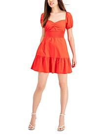 Solid Smocked-Waist Poplin Mini Dress, Created for Macy's