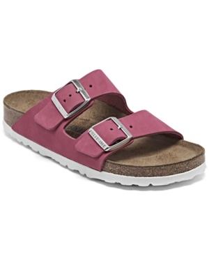 Birkenstock Women's Arizona Birko-flor Soft Footbed Sandals From Finish Line In Pink