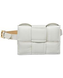 Women's Oversized Woven Belt Bag