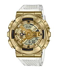 Men's Analog-Digital Clear Resin Strap Watch 49mm