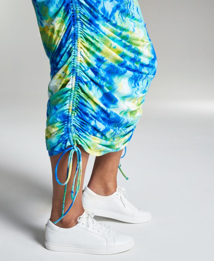 INC International Concepts Misa Hylton for INC Printed High-Rise Ruched Skirt, Created for Macy's & Reviews - Skirts - Women - Macy's