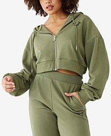 Women's Oversized Buddha Zip Up Hoodie